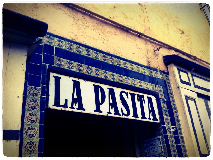 Outside of 'La Pasita'