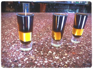 Three shots of Pasita