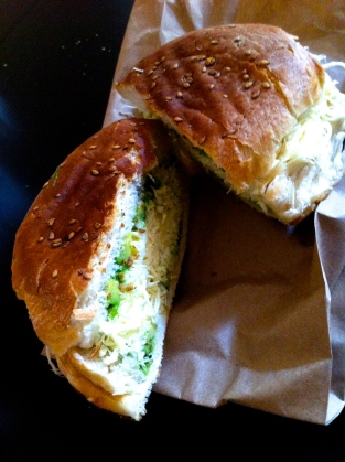 a toasted cemita (no meat)