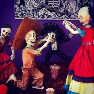 Arguing Skeletons Ofrenda